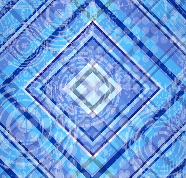 Abstração geométrica tartan azul nos motivos e estilo escocês