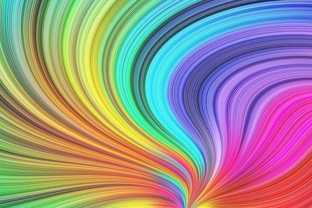 Abstrações de listras coloridas