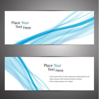 Abstract banners set