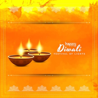 Abstract bright elegant happy diwali vector background