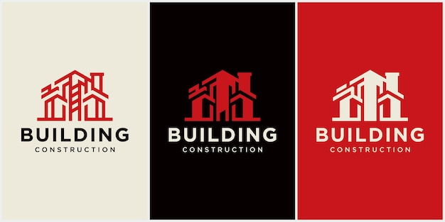 Abstract building logo design architect construction logo template arquitetura e construção