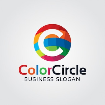 Abstract colorful letter c logo