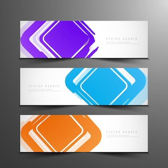 Abstract colorful modern banners et