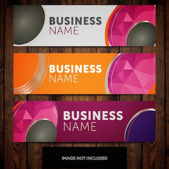 Abstract corporate banner design templates rosa laranja e cinza fundos