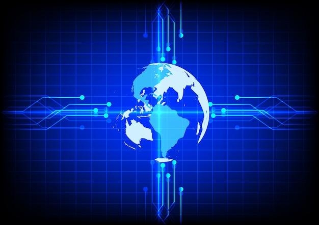 Abstract electronics world digital technology blue background