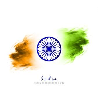 Abstract elegante bandeira indiana tema design fundo