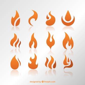 Abstract flames laranja fogo