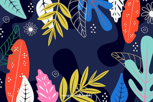 Abstract floral hand drawn background