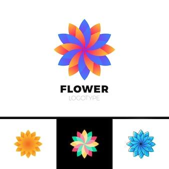 Abstract flower resort spa logo