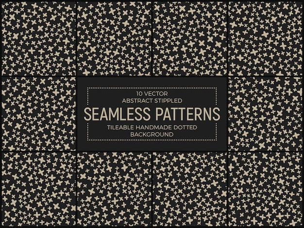 Abstract funky seamless patterns set vector