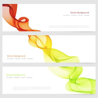 Abstract horizontal template banner