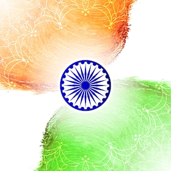 Abstract indian flag theme watercolor background
