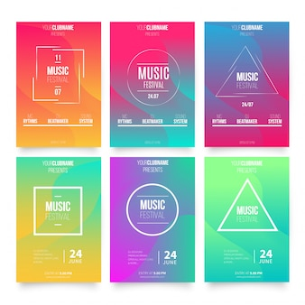 Abstract music poster templates