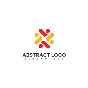 Abstract people logo design