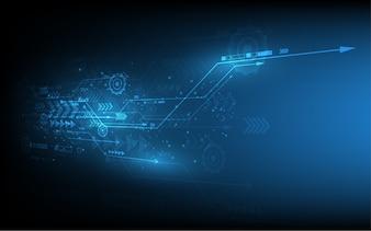 Abstract technology background Conceito de comunicação Hi-Tech