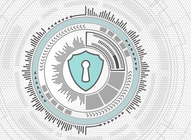 Abstract technology fundo do sistema cibernético de segurança