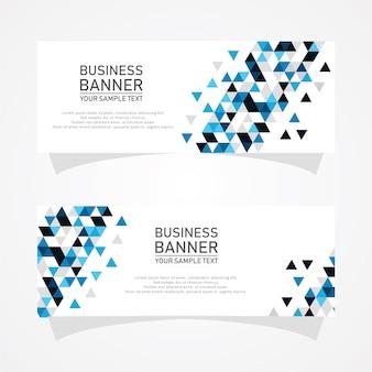 Abstract vector banner de negócios projeta