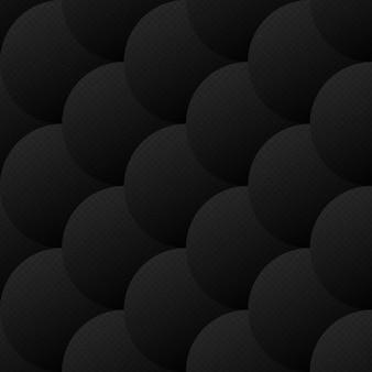 Abstract vector squamous padrão sem emenda escuro
