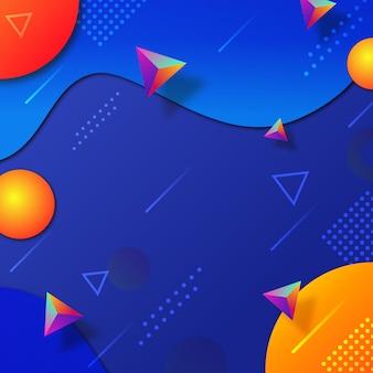 Abstract3d fundo de formas geométricas