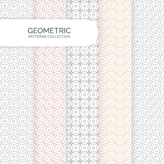 Abstrata moderna geométrica coleção de padrões de fundos