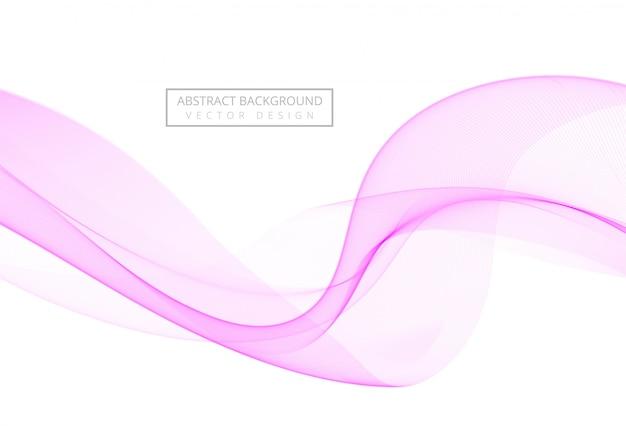 Abstrata rosa elegante onda fluindo sobre fundo branco