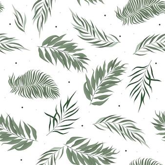 Abstrata sem costura padrão com folhas. modelo.
