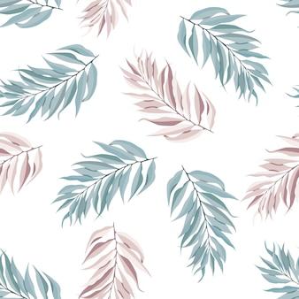 Abstrata sem costura padrão com folhas tropicais. modelo.