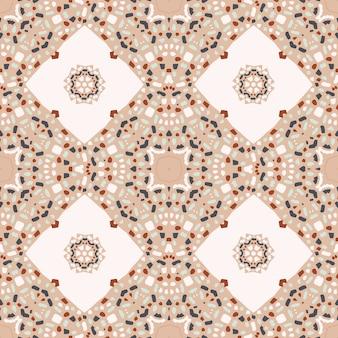 Abstrata sem costura padrão com mosaico de tijoleira
