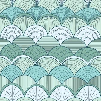 Abstrata sem costura padrão com ondas