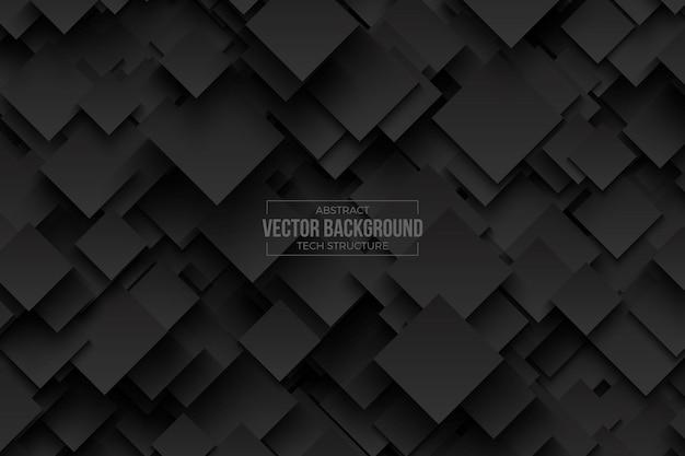 Abstrata tecnologia 3d dark grey vector background