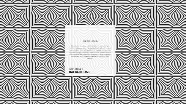 Abstratas formas circulares geométricas no padrão de linhas quadradas