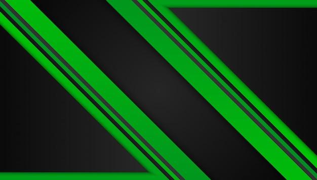 Abstratas formas geométricas verdes sobre fundo escuro