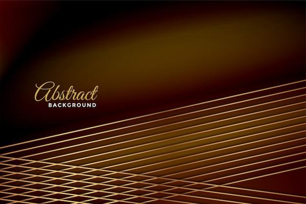 Abstratas linhas brilhantes subiram fundo dourado