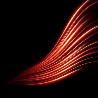 Abstratas linhas vermelhas.