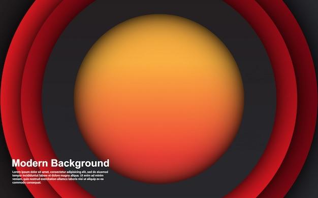 Abstrato 3d círculo gradientes papercut cor design moderno