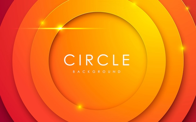 Abstrato 3d círculo papercut fundo laranja