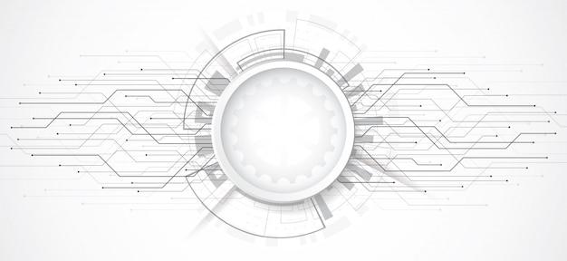 Abstrato 3d com ponto de tecnologia e placa de circuito de linha