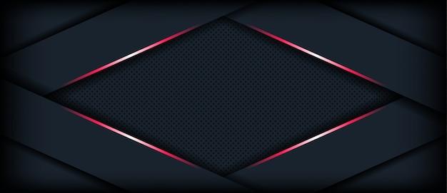 Abstrato 3d fundo escuro com linha geométrica