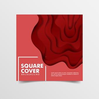 Abstrato 3d fundo vermelho papel cortado estilo de arte