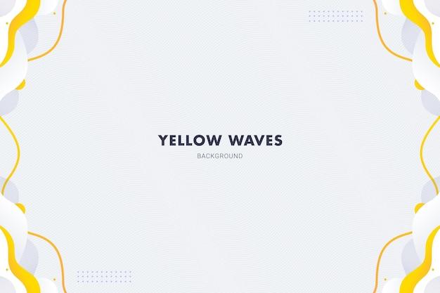Abstrato amarelo com ondas de fundo para design de modelo de banner de panfleto de brochura
