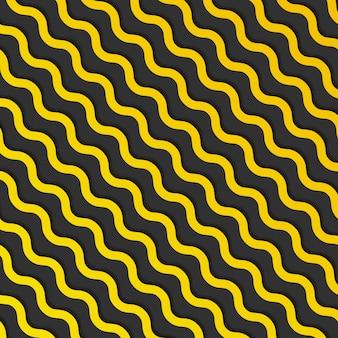 Abstrato amarelo diagonal onda linhas padrão