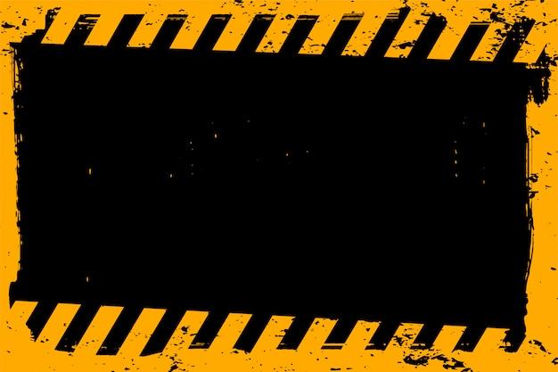 Abstrato amarelo e preto grunge vazio