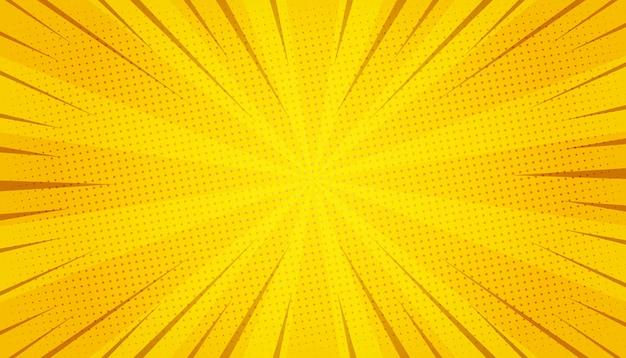 Abstrato amarelo em quadrinhos zoom