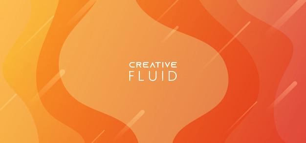 Abstrato amarelo gradiente líquido laranja
