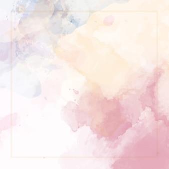 Abstrato aquarela com moldura