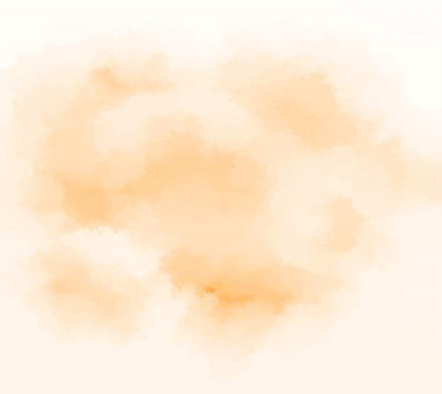 Abstrato aquarela laranja Vetor Premium