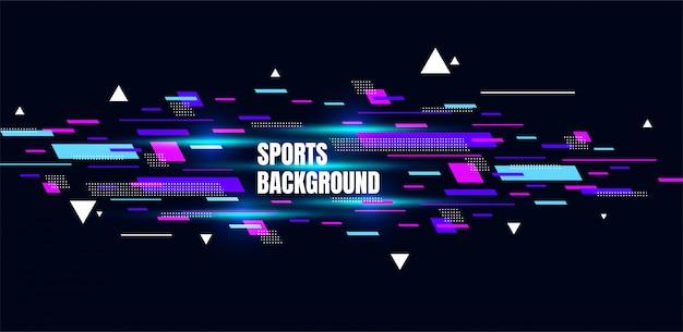 Abstrato arte colorida para esportes. partículas dinâmicas