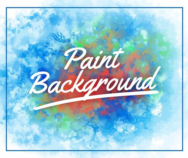Abstrato artístico e colorido splater