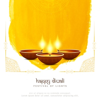 Abstrato artistico feliz diwali decorativo