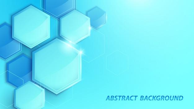 Abstrato azul 3d geométrico fundo digital de alta tecnologia